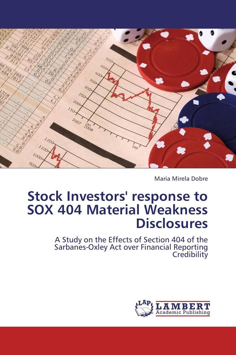 Stock Investors' response to SOX 404 Material Weakness Disclosures