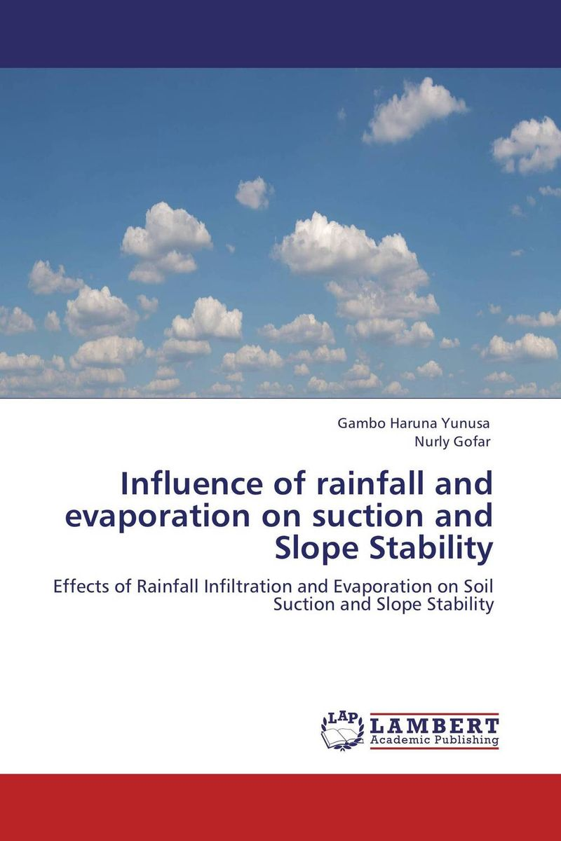 Influence of rainfall and evaporation on suction and Slope Stability rakesh kumar tiwari and rajendra prasad ojha conformation and stability of mixed dna triplex