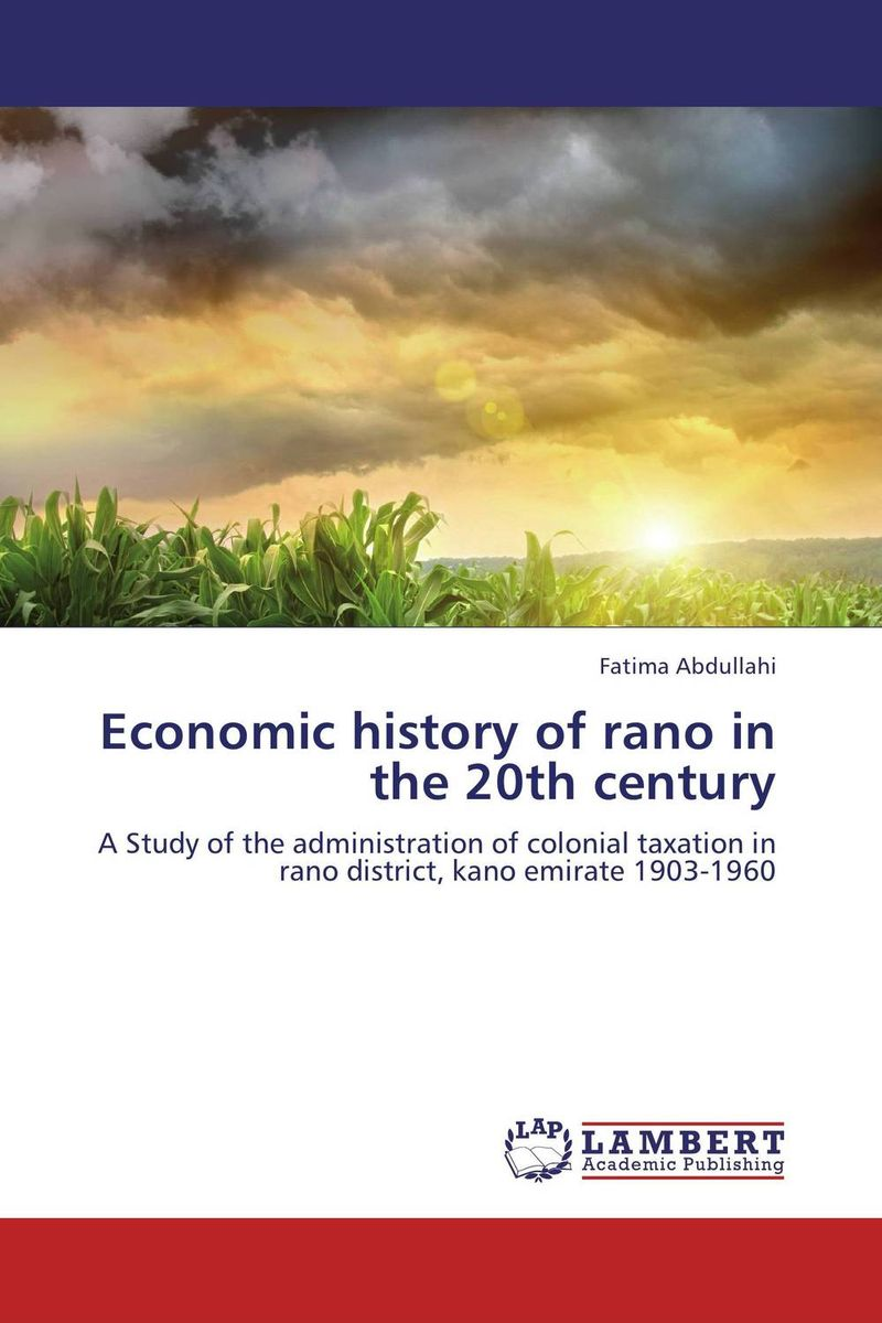 Economic history of rano in the 20th century district substructures as agents of local governance
