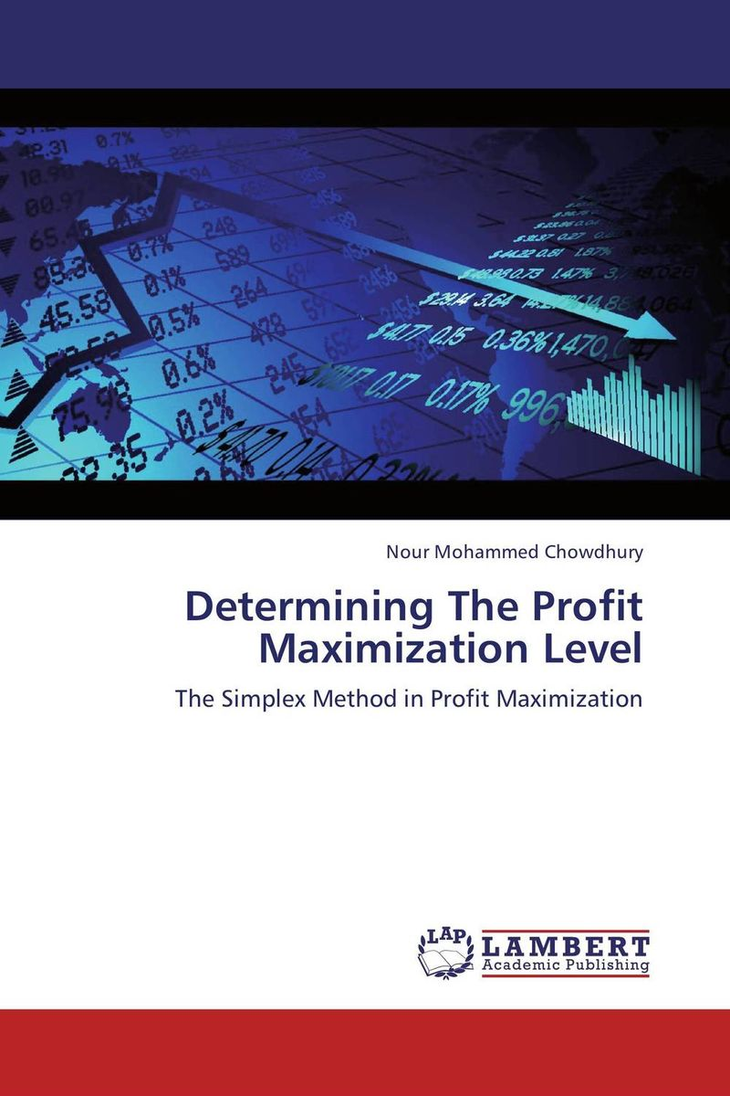 Determining The Profit Maximization Level купить