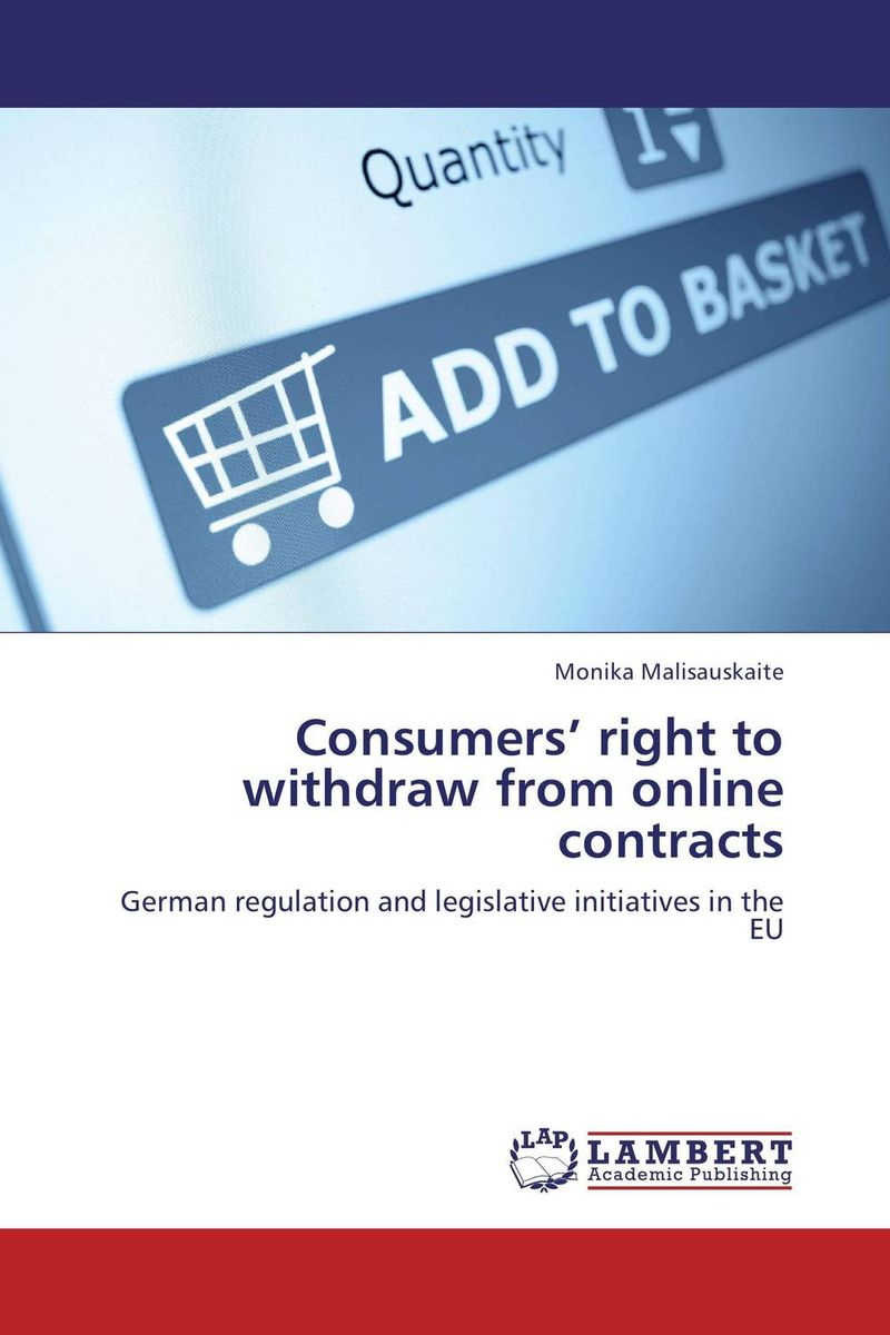 Consumers' right to withdraw from online contracts