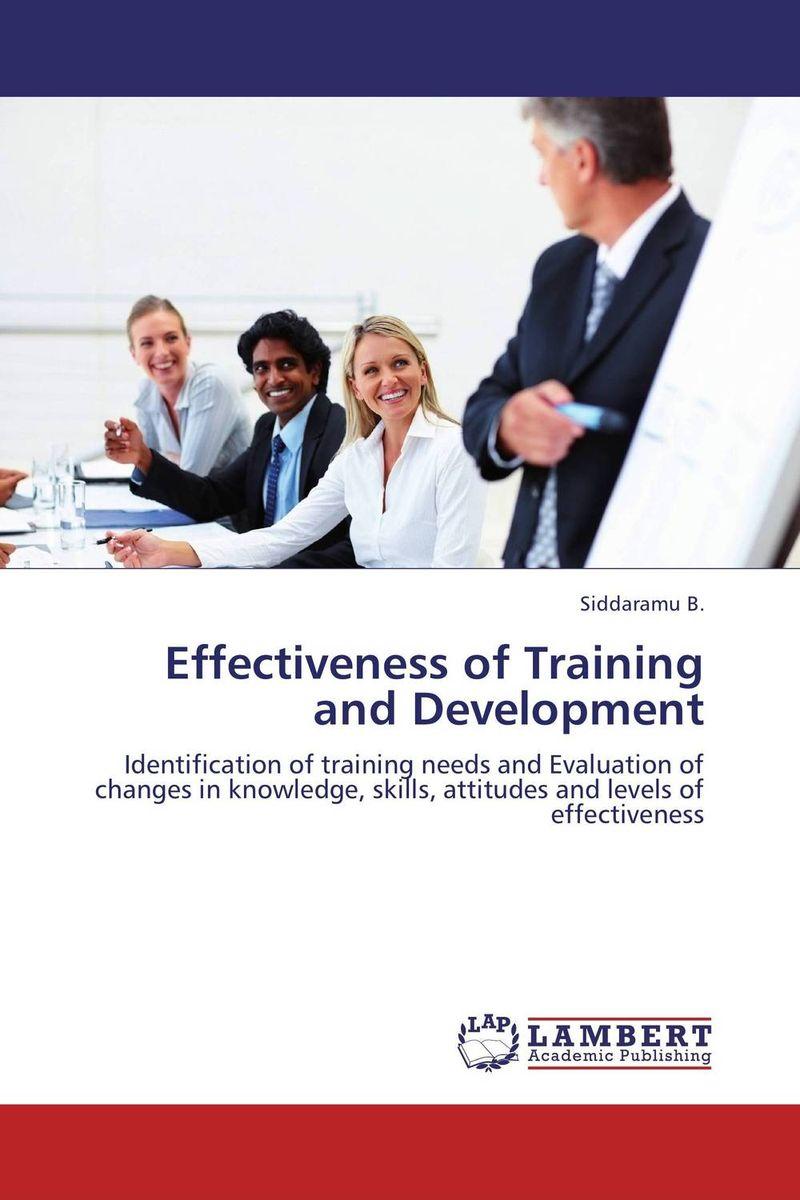 Effectiveness of Training and Development organization development