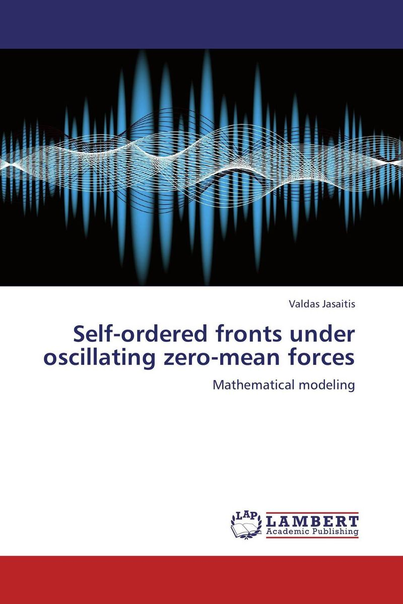 Self-ordered fronts under oscillating zero-mean forces under the net
