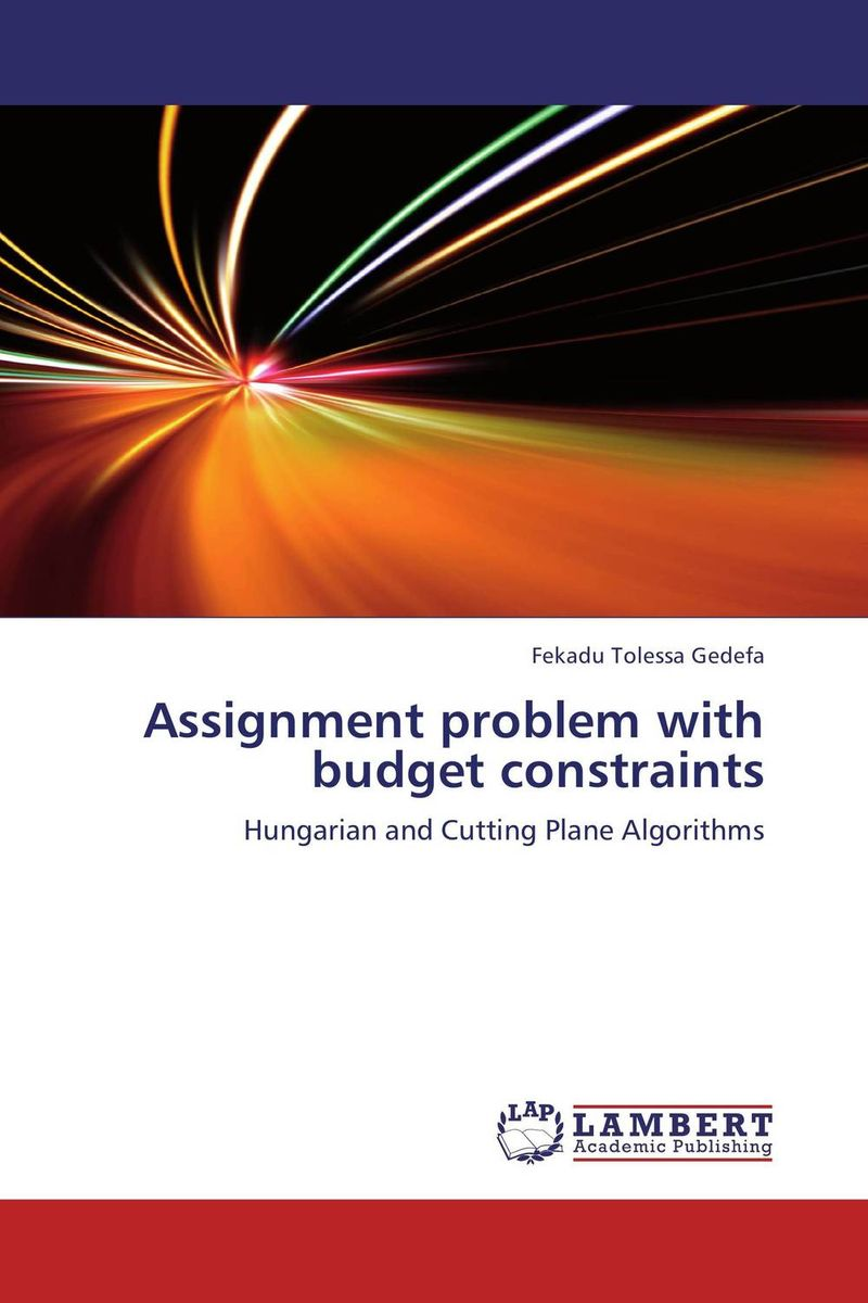 Assignment problem with budget constraints the application of wavelets methods in stefan problem