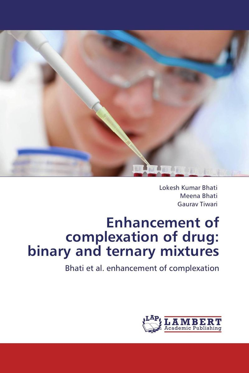 Enhancement of complexation of drug: binary and ternary mixtures