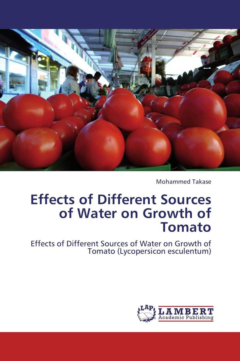 Effects of Different Sources of Water on Growth of Tomato bride of the water god v 3