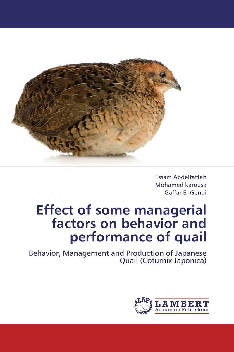 Effect of some managerial factors on behavior and performance of quail tobias olweny and kenedy omondi the effect of macro economic factors on stock return volatility at nse
