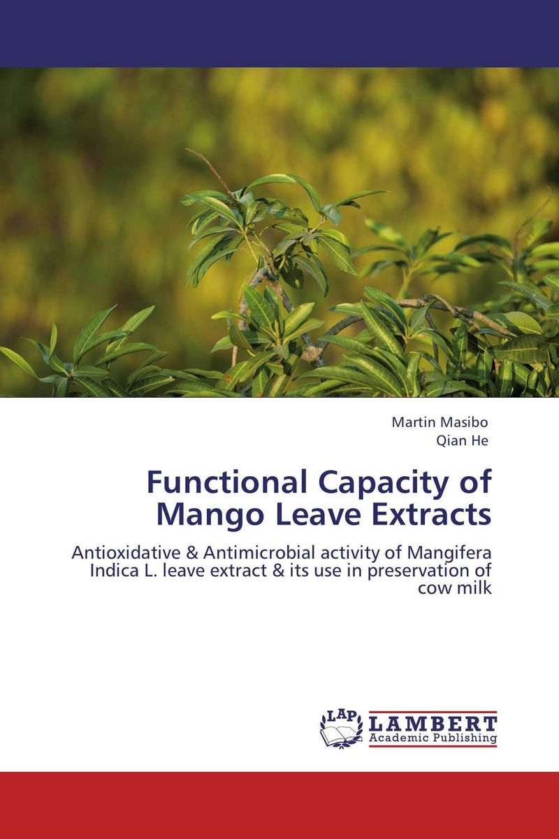Functional Capacity of Mango Leave Extracts functional capacity of mango leave extracts