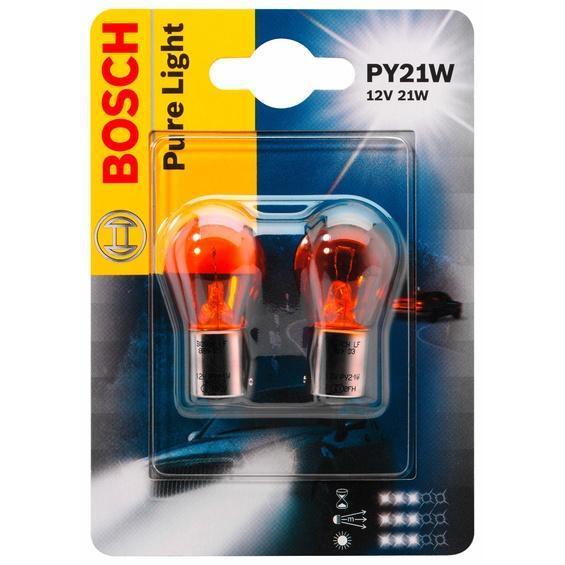 Лампа автомобильная Bosch Pure Light, 12 Вт, 2 шт1987301018Новые лампы Bosch выглядят наиболее эффектно в сочетании с фарами из прозрачного стекла и подчеркивают современный дизайн автомобилей. Основным предназначением габаритных огней является обозначение транспортного средства во время стоянки в темное время сутокили в сложных погодных условиях, таких как ливень или густой туман, при этом лучше заметен сам автомобиль с фарами Bosch. Напряжение: 12 вольт.