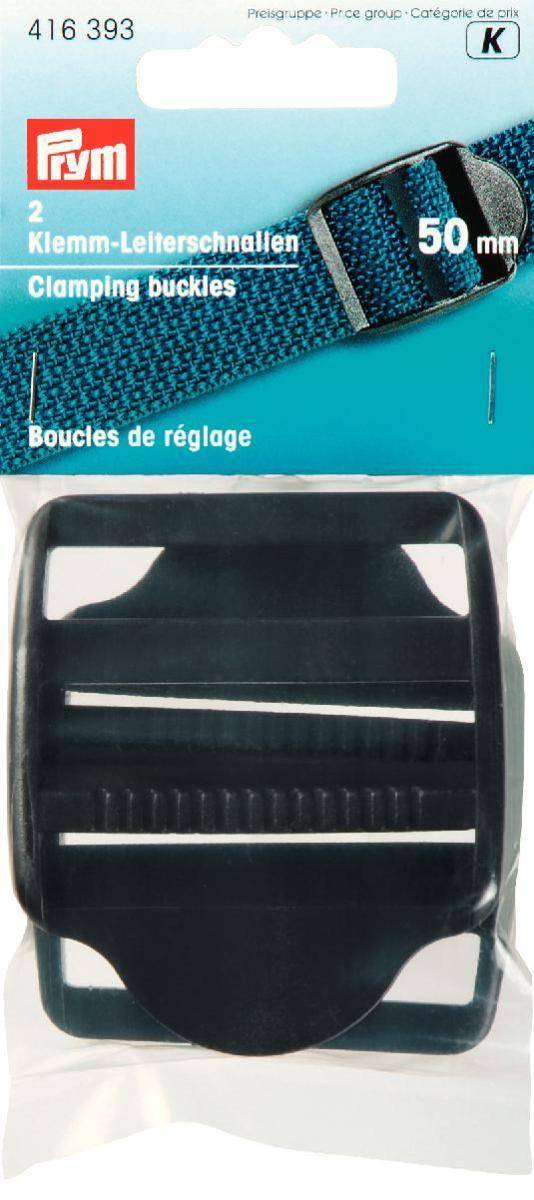 Пряжки регулировочные Prym, с фиксатором, цвет: черный, 50 мм, 2 шт416393Пластиковые регулировочные пряжки Prym предназначены для фиксации и регулирования по длине ремня. Пряжка Prymнадежно зафиксирует любой ремень шириной 5 см.Размер пряжки: 6 см х 7 см.