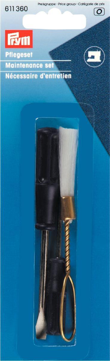 Набор по уходу за швейными машинами Prym, 3 предметаFC8018/01Набор Prym предназначен для сервиса швейной машины.В набор входит:- щетка;- отвертка плоская - 2 шт.Отвертки подходят для регулировки натяжения нижней нити и для общих целей. Щетка для ухода за челночным механизмом.Набор для швейных машин Prym незаменимый набор для швеи. Длина щетки: 10 см.Длина отверток: 10,5 см.