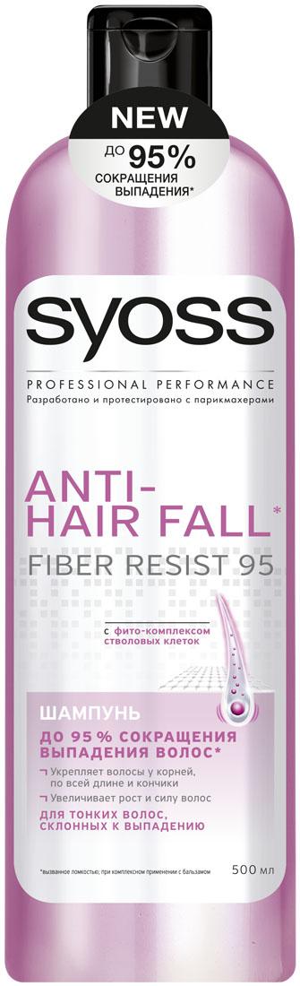 SYOSS Шампунь Anti-hair fall , 500 мл9034292До 95 % СОКРАЩЕНИЯ ВЫПАДЕНИЯ ВОЛОС, вызванного ломкостью. Формула с фито-комплексом стволовых клеток: 1) Действует непосредственнона корни волос 2) Укрепляет волосы по всей длине до самых кончиков 3) Волосы длинные & крепкие