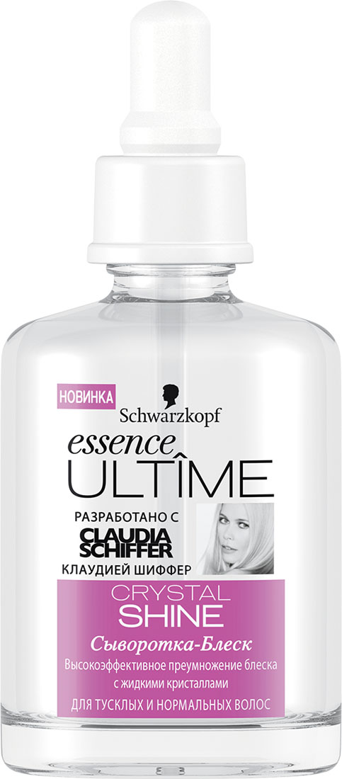 ESSENCE ULTIME Сыворотка Crystal Shine, 50 мл9263066Сыворотка – блеск для тусклых и нормальных волос.Высокоэффективное преумножение блеска с жидкими кристаллами.Предотвращает секущиеся кончики до 90%Для эффекта восстановления всего за 30 секунд