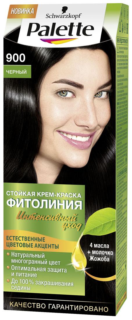 PALETTE Краска для волос ФИТОЛИНИЯ оттенок 900 Черный, 110 мл