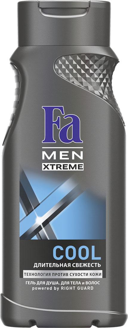 FA MEN Xtreme Гель для душа Cool, 250 млDSM68Испытай заряд свежести Fa MEN COOL для продолжительного ощущения чистой и обновленной кожи. Инновационная технология Против Сухости Кожи придает свежесть и увлажняет кожу, предотвращая ощущение сухости. Подходит для тела и волос. Дезодорирующий эффект Легкий свежий аромат для большей уверенности в себе. Хорошая переносимость кожей подтверждена дерматологами.Также откройте для себя антиперспиранты Fa MEN Xtreme для непревзойденной защиты 72ч.