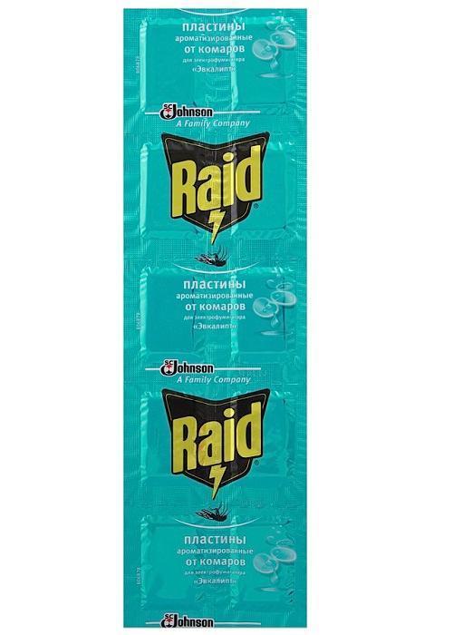 Пластины от комаров Raid Эвкалипт, 10 шт qian and green gardening