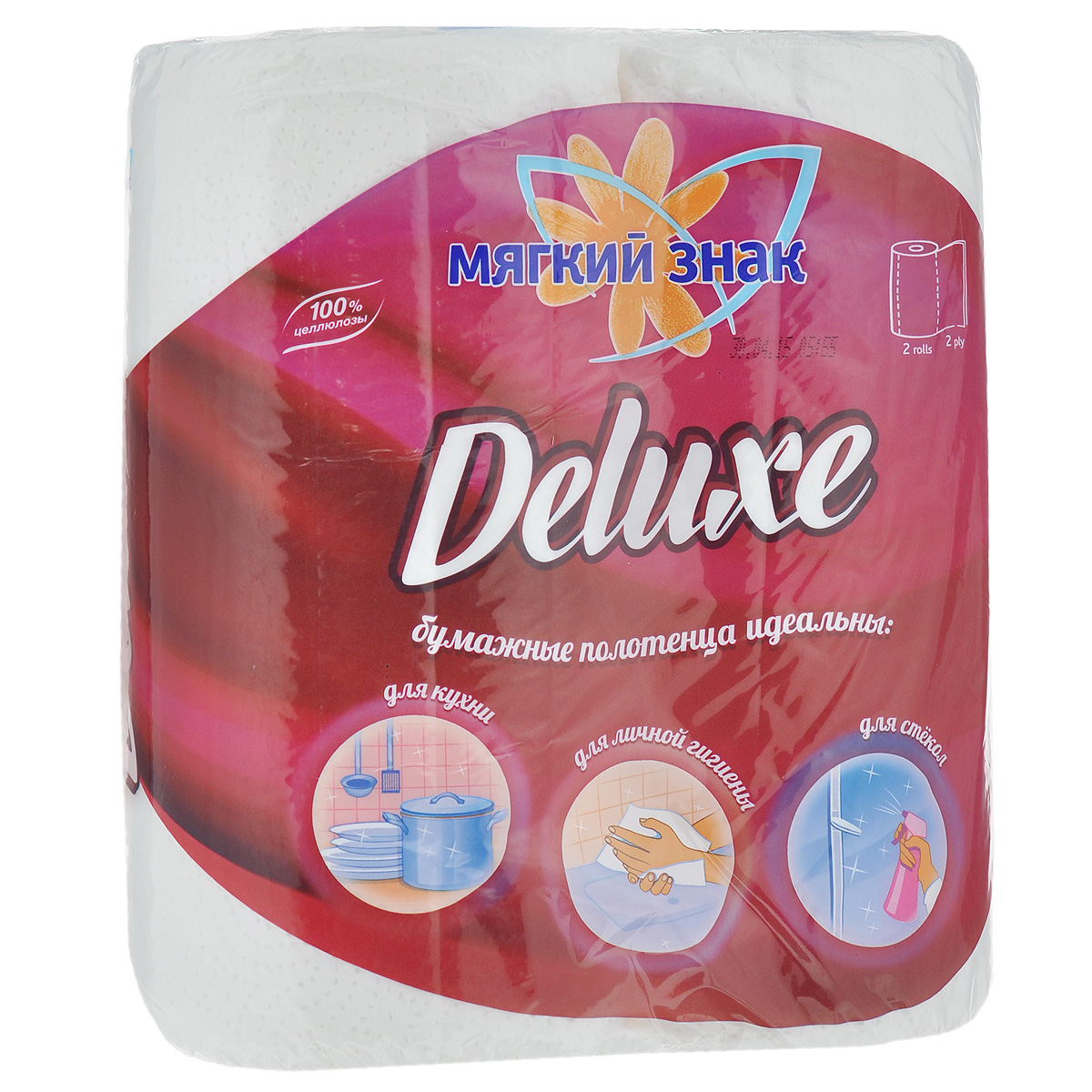 Полотенца бумажные Мягкий знак Deluxe, двухслойные, цвет: белый, 2 рулонаC40Бумажные полотенца Мягкий знак Deluxe созданы из экологически чистого волокна - 100% целлюлозы. Двухслойные. Хорошо впитывают влагу и идеально подходят для ежедневного использования.Количество листов: 48 шт. Количество слоев: 2. Размер листа: 25 см х 23 см. Состав: 100% целлюлоза.
