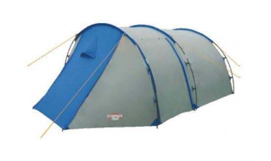 Палатка туристическая CAMPACK-TENT Field Explorer 4 (2013) (серый/голубой) арт.00376380037638Campack-Tent - это классика туристических палаток. Благодаря новой конструкции и третьей дуге у палатки увеличился размер тамбура, а два входа и достаточно большие отверстия для вентиляции обеспечат комфорт даже при высоких температурах. Материал: Taffeta/алюминий