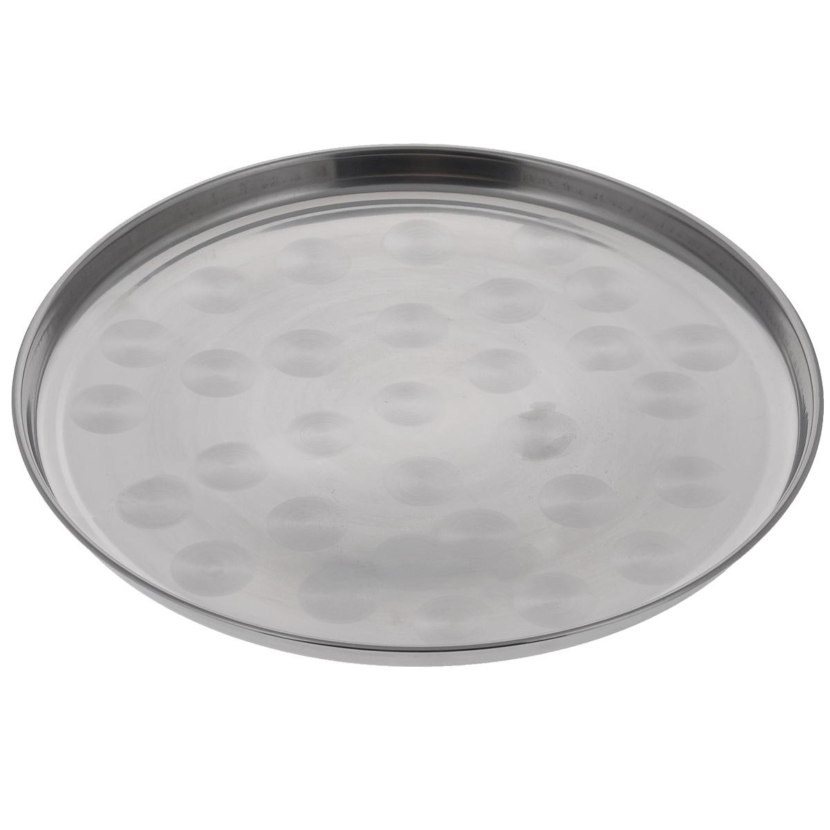 Поднос Padia, диаметр 44 см5400-01Круглый поднос Padia выполнен из высококачественной нержавеющей стали. Он отличноподойдет для красивой сервировки различных блюд, закусок и фруктов на праздничном столе.Благодаря бортикам, поднос с легкостью можно переносить с места на место.Поднос Padia займет достойное место на вашей кухне.Диаметр подноса: 44 см.Высота подноса: 2,5 см.