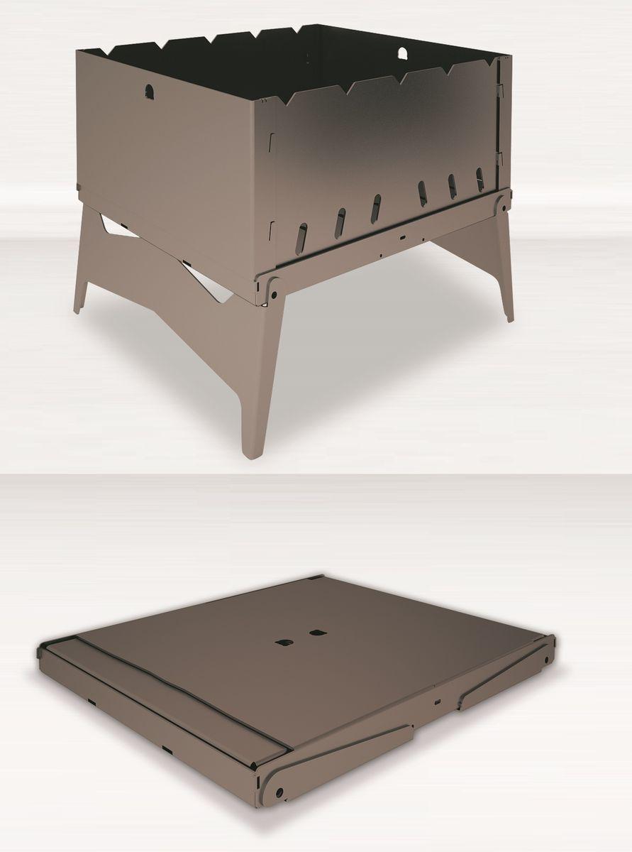 Мангал-трансформер Grillux Optimus, цвет: серый, 32 х 25 х 25 смAK17FСкладной мангал-трансформер Grillux Optimus предназначен для термической обработки пищи на открытом воздухе. Идеально подходит для приготовления продуктов на углях. Мангал-трансформер изготовлен из стали. Благодаря небольшому размеру его всегда можно брать с собой на дачу или пикник.Легко собирается и разбирается. Такой мангал с необычным дизайном может стать отличным подарком. Размер мангала (с учетом высоты ножек): 32 х 25 х 25 см. Размер (в сложенном виде): 32 х 25 х 2,7 см. Толщина стенок: 1,5 мм. Глубина: 12,5 см.