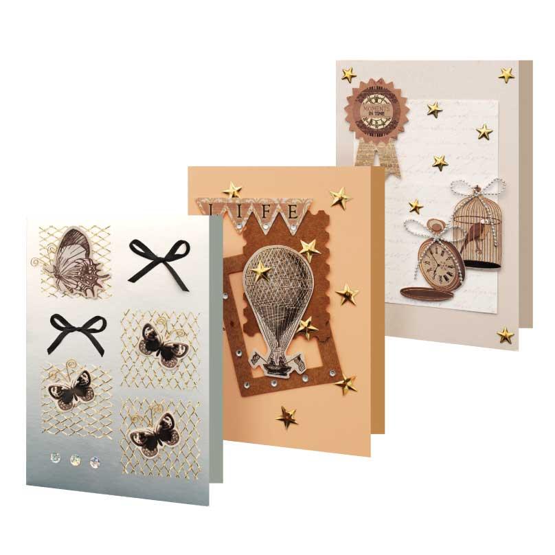 Набор для создания 3-х открыток Вояж набор для создания открыток мишки 3 шт