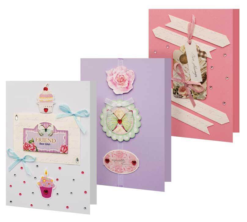 Набор для создания 3-х открыток Сонет набор для создания открыток мишки 3 шт