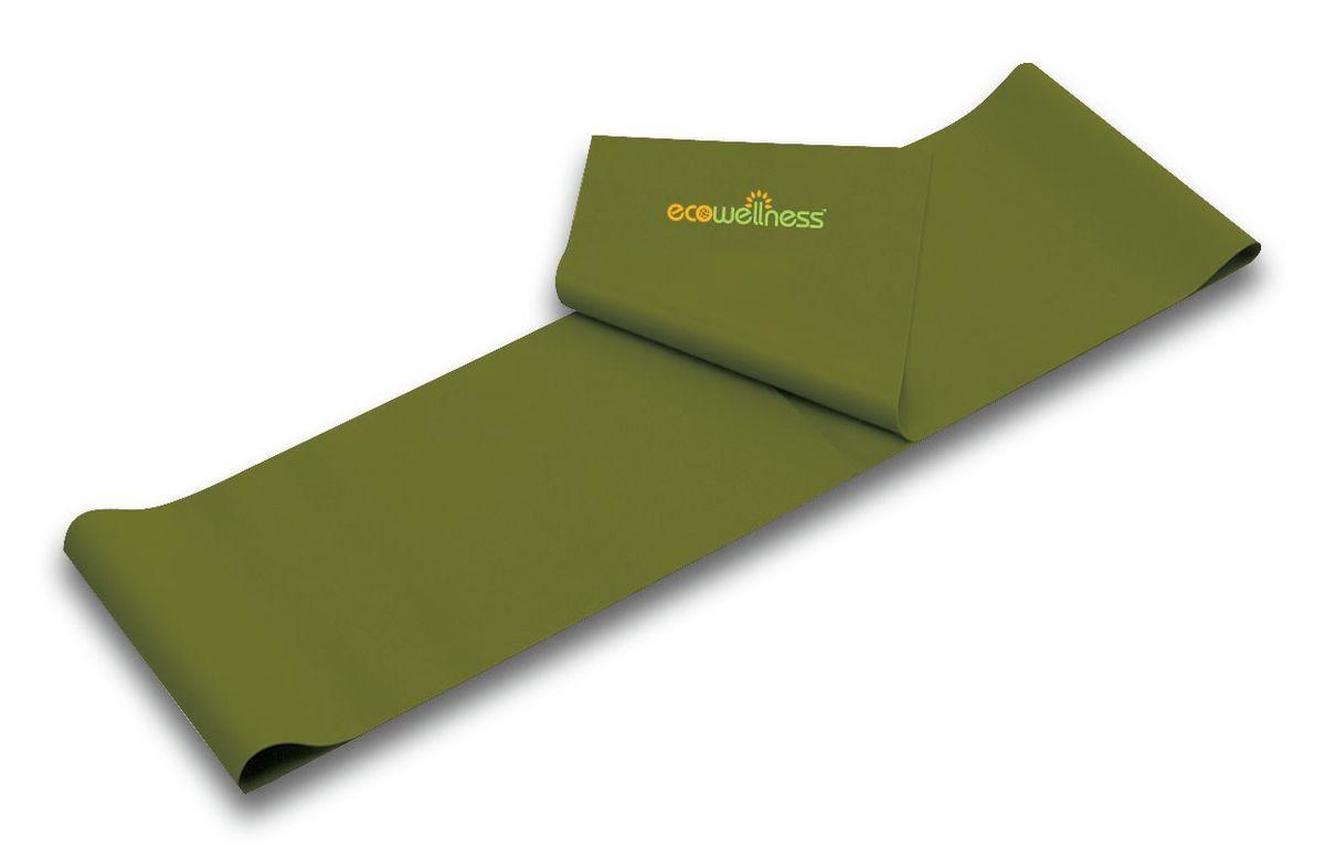 Лента для аэробики Ecowellness, цвет: зеленый, толщина 0,65 мм. QB-102G3-65QB-102G3-65Лента Ecowellness выполнена из высококачественного латекса, предназначена для занятий аэробикой и идеально подходит для укрепления верхней и нижней части тела. Это полноценный компактный тренажер,который удобно брать с собой в дорогу. Размер: 120 см х 15 см.Толщина: 0,65 мм.