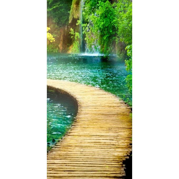Фотообои Твоя Планета Premium. Дорожка к водопаду, 3 листа, 97 х 204 см4607161056905Основа фотообоев Твоя Планета Premium. Дорожка к водопаду - импортная бумага высокого качества и повышенной плотности с нанесенным на неё цветным фотоизображением. Технология сборки фрагментов в единую картину довольно проста. Это наиболее распространенный вид обоев, позволяющих создать в квартире (комнате) определенное настроение и даже несколько расширить оптический объем. Фотообои пользуются популярностью потому, что они недорогие и при этом позволяют получить массу удовольствий при созерцании изображения.Количество листов: 3. Размер (ШхВ): 97 см х 204 см.