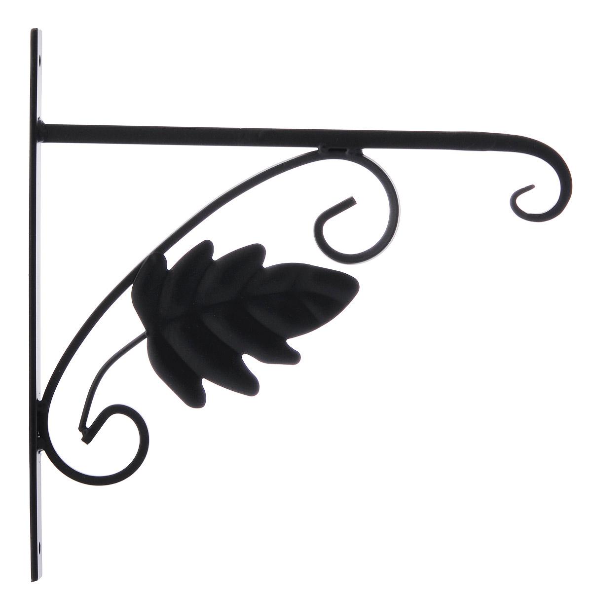 Кронштейн для кашпо Гарденкрафт Клен, цвет: черный3085Кронштейн Гарденкрафт Клен поможет вам украсить цветами окружающее вас пространство. С помощью прочного кронштейна вы сможете расположить корзину с цветами в любом удобном месте.Кронштейн изготовлен из металла, что гарантирует долговечность срока службы. Такой оригинальный кронштейн послужит настоящим украшением и необычным элементом дизайна. Размер кронштейна: 27,5 см х 28 см х 2 см.