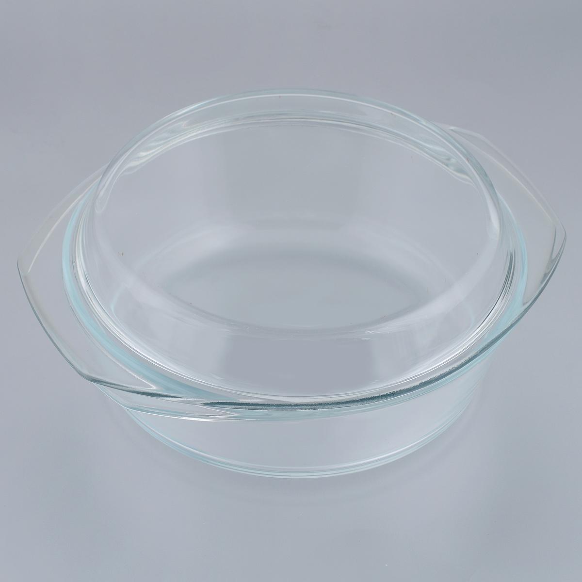 """Кастрюля """"Mijotex"""" изготовлена из экологически чистого жаропрочного стекла и оснащена крышкой, которую также можно использовать как отдельную емкость. Стекло - самый безопасный для здоровья материал. Посуда из стекла не вступает в реакцию с готовящейся пищей, а потому не выделяет никаких вредных веществ, не подвергается воздействию кислот и солей. Из-за невысокой теплопроводности пища в стеклянной посуде гораздо медленнее остывает. Стеклянная посуда очень удобна для приготовления, разогрева и хранения самых разнообразных блюд: супов, вторых блюд, десертов. Используя такую кастрюлю, вы можете не только приготовить в ней пищу, но и подать ее к столу, не меняя посуды. Благодаря гладкой идеально ровной поверхности посуда легко моется. Допускается нагрев посуды до 400°С.Можно использовать в микроволновой печи, духовом шкафу, на газовых конфорках и электроплитах. Можно использовать для хранения в холодильнике и морозильной камере. Можно мыть в посудомоечной машине. Высота стенок кастрюли: 7,5 см. Высота кастрюли (с учетом крышки): 11,5 см. Ширина кастрюли (с учетом ручек): 28 см. Толщина стенок: 6 мм.Толщина дна: 6 мм."""