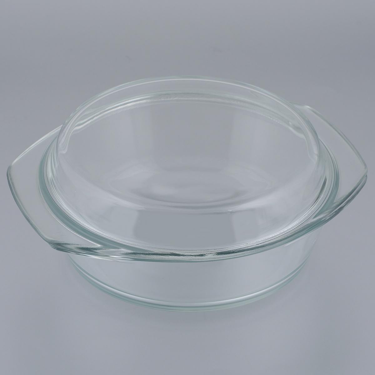 """Кастрюля """"Mijotex"""" изготовлена из экологически чистого жаропрочного стекла и оснащена крышкой, которую также можно использовать как отдельную емкость. Стекло - самый безопасный для здоровья материал. Посуда из стекла не вступает в реакцию с готовящейся пищей, а потому не выделяет никаких вредных веществ, не подвергается воздействию кислот и солей. Из-за невысокой теплопроводности пища в стеклянной посуде гораздо медленнее остывает. Стеклянная посуда очень удобна для приготовления, разогрева и хранения самых разнообразных блюд: супов, вторых блюд, десертов. Используя такую кастрюлю, вы можете не только приготовить в ней пищу, но и подать ее к столу, не меняя посуды. Благодаря гладкой идеально ровной поверхности посуда легко моется. Допускается нагрев посуды до 250°С. Данная форма не подходит для открытого огня (СВЧ, духовка (любая)). Можно использовать для хранения в холодильнике и морозильной камере. Можно мыть в посудомоечной машине. Высота стенок кастрюли: 6,5 см. Высота кастрюли (с учетом крышки): 9,5 см. Ширина кастрюли (с учетом ручек): 23,5 см. Толщина стенок: 5 мм.Толщина дна: 5 мм."""