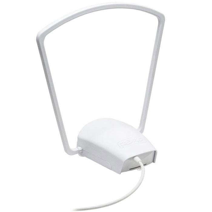 РЭМО Mini-digital, White комнатная антенна для ТВMini-digitalКомнатная цифровая антенна РЭМО Mini-digital предназначена для приема телевизионных трансляций вдиапазоне ДМВ в цифровых DVB-T/DVB-T2 и аналоговом стандартах. Антенна имеет специальный малошумящийусилитель со встроенным фильтром для предотвращения помех от базовых станций сотовой связи, что позволяетзначительно улучшить прием в сложных условиях города или ближнего пригорода.Особенностью данной модели также является возможность ее установки как на горизонтальную поверхность, таки на оконное стекло. Благодаря присоскам антенна может быть легко установлена и, при необходимости, быстроснята с окна без каких-либо следов. Она имеет подвижную приемную рамку, которая может быть зафиксированаперпендикулярно корпусу (при установке на горизонтальные поверхности) или в его плоскости (при установке наоконное стекло).