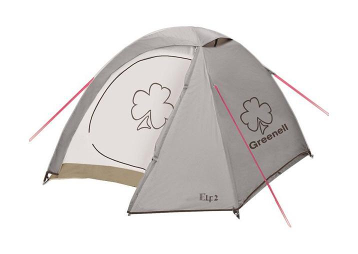 GREENELL Палатка Эльф 2 V3, цвет: коричневый. Арт.95509 палатки greenell палатка керри 2 v3