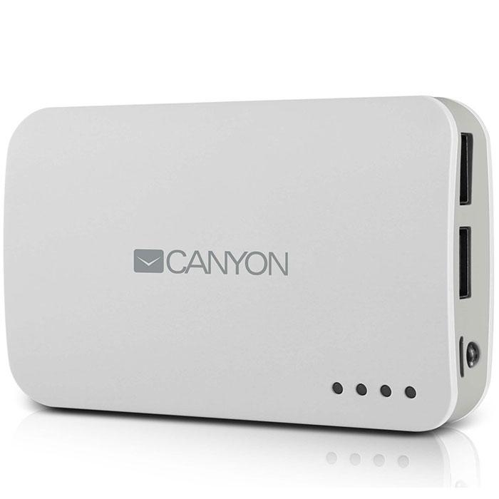 Canyon CNE-CPB78, White внешний аккумуляторCNE-CPB78WВнешний аккумулятор Canyon CNE – это замечательный выбор для подзарядки мобильных устройств и гаджетовпри отсутствии доступа к стационарной электросети. Устройство иммет большую емкость, что позволяет братьэтот аксессуар в длительные путешествия, а два USB-разъема с разной силой выходного тока служат для удобнойподзарядки разных моделей электроники. Аккумулятор Canyon дополнен светодиодной индикацией,оповещающей владельца об уровне заряда.