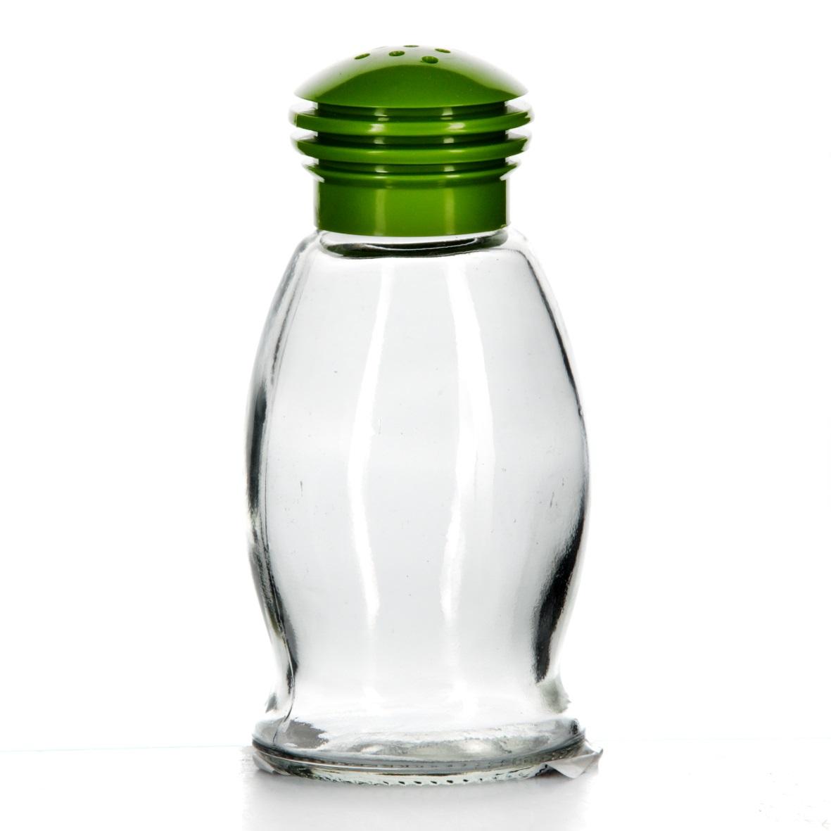 Солонка Herevin, цвет: зеленый, 85 мл. 121091-000121091-000Солонка Herevin выполнена из прозрачного стекла и оснащена пластиковой цветной крышкой с отверстиями, благодаря которым, вы сможете посолить блюда, просто перевернув банку. Крышка легко откручивается, благодаря чему засыпать соль внутрь очень просто. Такая солонка станет достойным дополнением к вашему кухонному инвентарю. Можно мыть в посудомоечной машине.Объем: 85 мл.Диаметр (по верхнему краю): 2 см.Высота солонки (без учета крышки): 9 см.