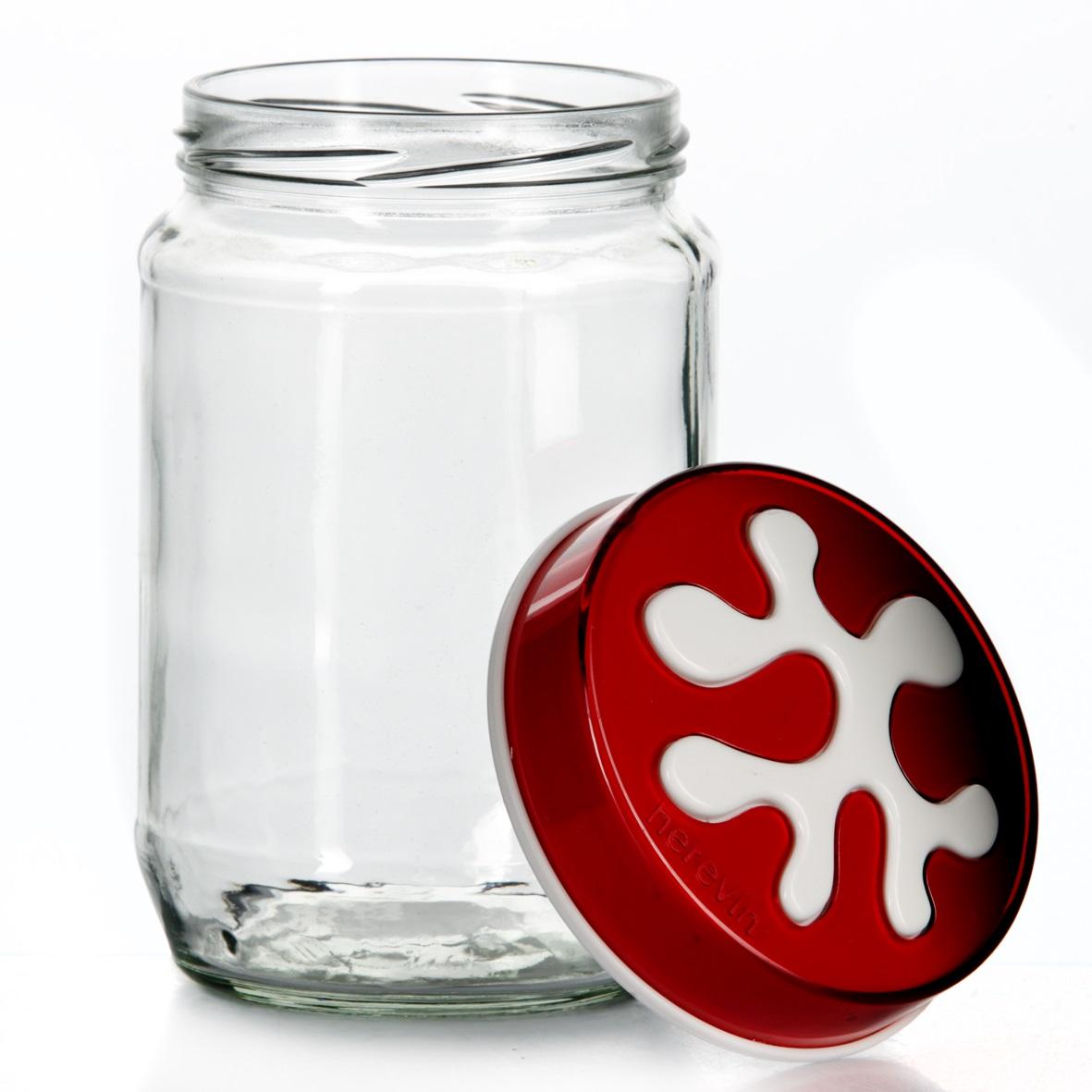 Банка для сыпучих продуктов Herevin, цвет: темно-красный, 720 мл. 135367-00125512Банка для сыпучих продуктов Herevin изготовлена из прочного стекла иоснащена плотно закрывающейся пластиковой крышкой. Благодаря этому внутрисохраняется герметичность, ипродукты дольше остаются свежими. Изделие предназначено для храненияразличных сыпучих продуктов: круп, чая, сахара, орехов и т.д.Функциональная и вместительная, такая банка станет незаменимым аксессуаромна любой кухне.Можно мыть в посудомоечной машине. Пластиковые части рекомендуется мытьвручную. Объем: 720 мл. Диаметр (по верхнему краю): 7,5 см. Высота банки (без учета крышки): 14 см.