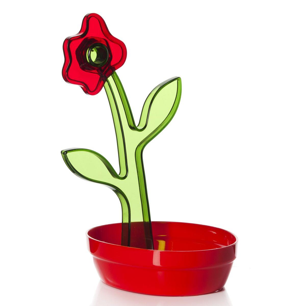 Подставка под ложку Herevin, цвет: красный161250-000Подставка под ложку Herevin, изготовленная из высококачественного пищевого пластика, декорирована декоративным цветком. Изделие выдерживает высокие температуры, что позволяет использовать его как подставку под кухонные принадлежности, которыми вы готовите, например, половник или лопатку. Подставка защитит поверхность стола от высоких температур и поможет сохранить чистоту на кухне.