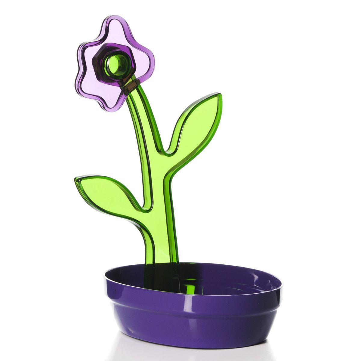 Подставка под ложку Herevin, цвет: фиолетовый161250-000Подставка под ложку Herevin, изготовленная из высококачественного пищевого пластика, декорирована декоративным цветком. Изделие выдерживает высокие температуры, что позволяет использовать его как подставку под кухонные принадлежности, которыми вы готовите, например, половник или лопатку. Подставка защитит поверхность стола от высоких температур и поможет сохранить чистоту на кухне.