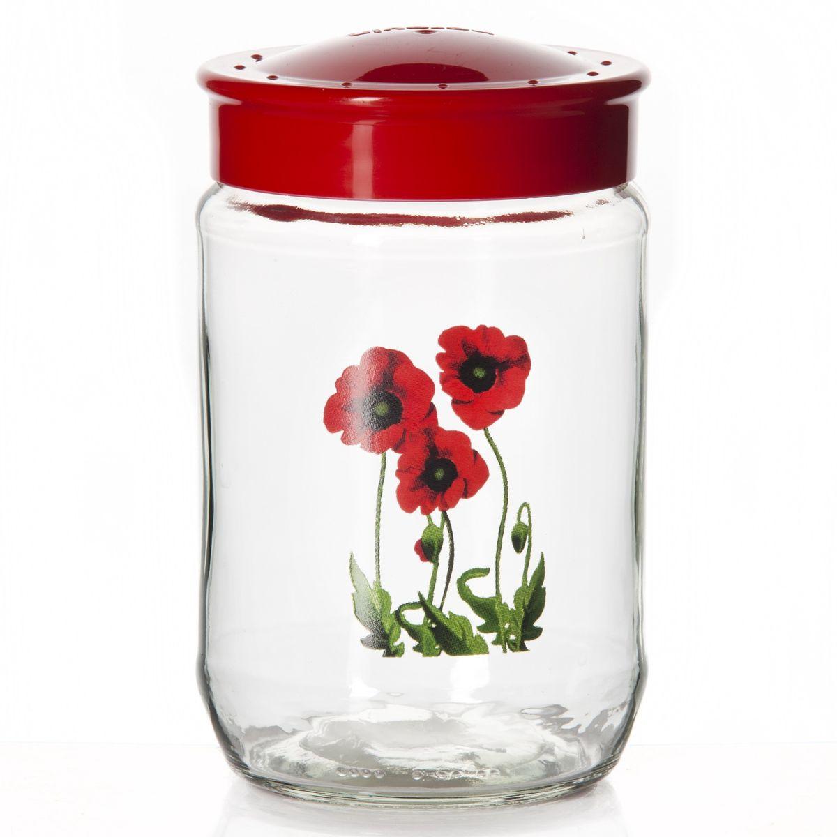 Банка для сыпучих продуктов Herevin, цвет: красный, 720 мл. 171109-000171109-000Банка для сыпучих продуктов Herevin, изготовленная из прочного стекла, декорирована изображением цветов. Банка оснащена плотно закрывающейся пластиковой крышкой. Благодаря этому внутри сохраняется герметичность, ипродукты дольше остаются свежими. Изделие предназначено для храненияразличных сыпучих продуктов: круп, чая, сахара, орехов и т.д.Функциональная и вместительная, такая банка станет незаменимым аксессуаромна любой кухне.Можно мыть в посудомоечной машине. Пластиковые части рекомендуется мытьвручную. Объем: 720 мл. Диаметр (по верхнему краю): 7,5 см. Высота банки (без учета крышки): 14 см.