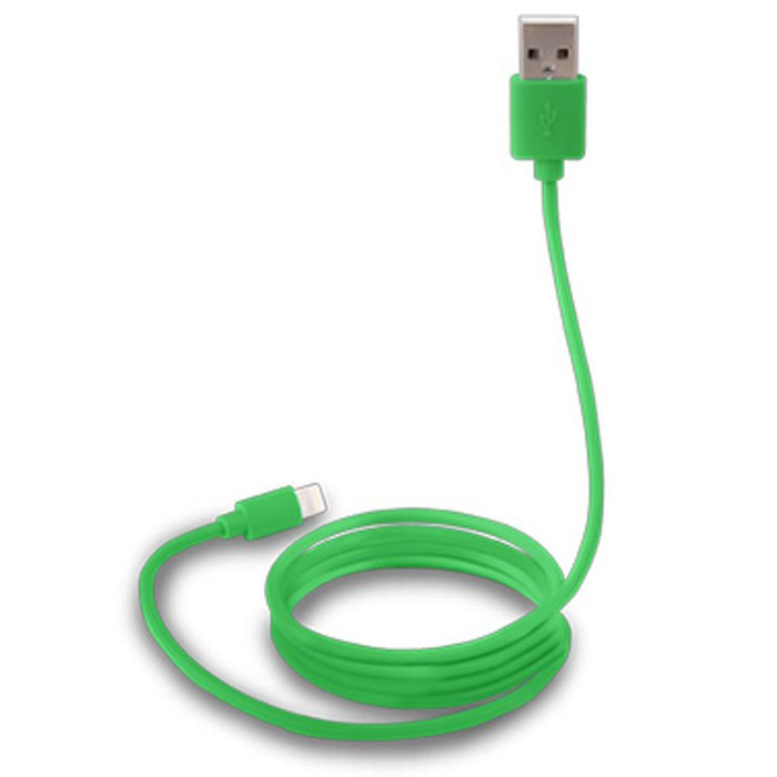 Canyon CNS-MFICAB01, Green дата-кабель Apple Lightning prolink pb341 green usb кабель apple lightning 1 м