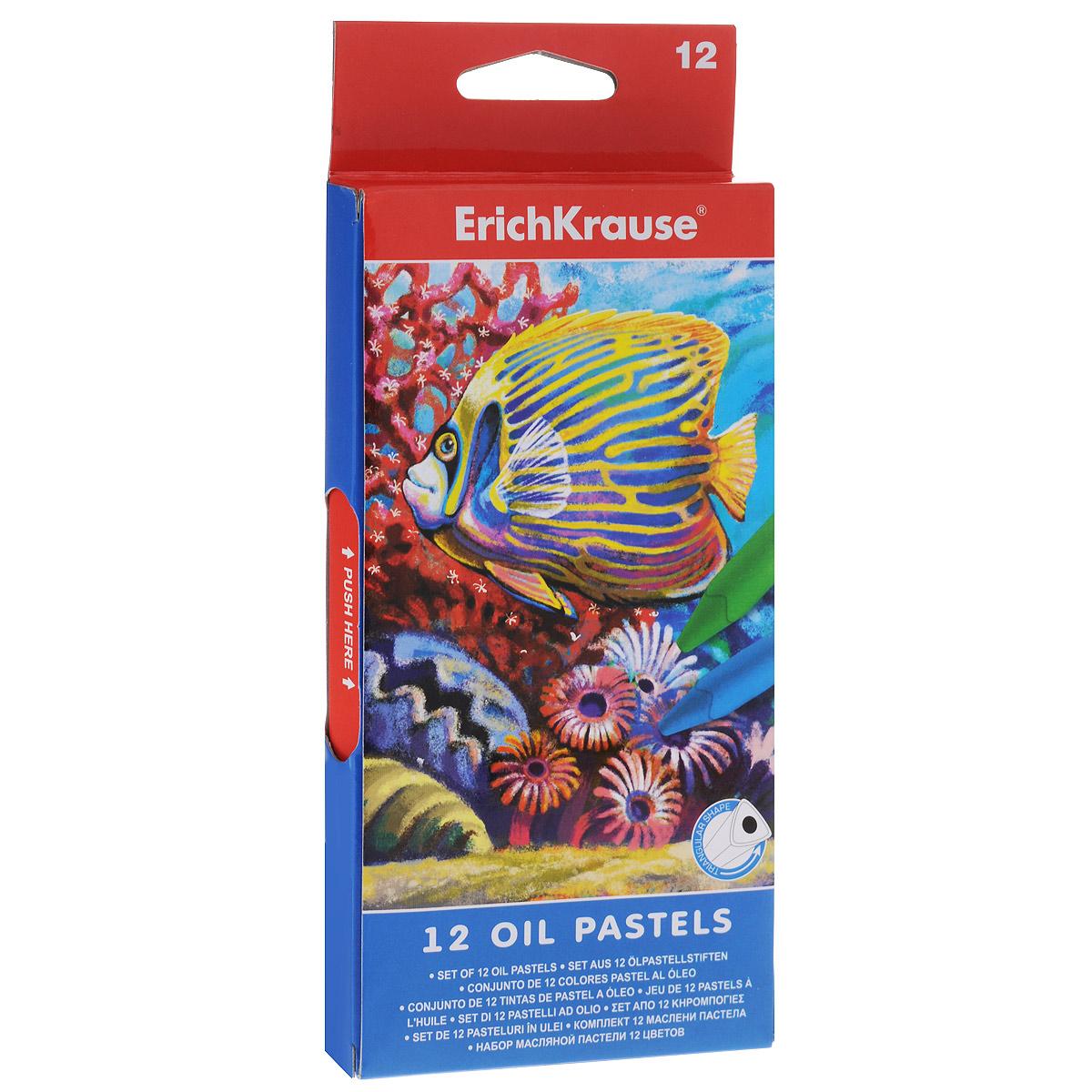 Пастель масляная Erich Krause, 12 шт34933Пастель масляная Erich Krause изготавливается с использованием светоустойчивых пигментов. Основа масляной пастели - воск и минеральные масла. В наборе - 12 разных цветов.Удобный эргономичный корпус позволяет рисовать в разных техниках. Пастель легко смешивается и растушевывается подушечками пальцев. Каждый мелок в индивидуальной бумажной обертке.Комплектация: 12 шт.