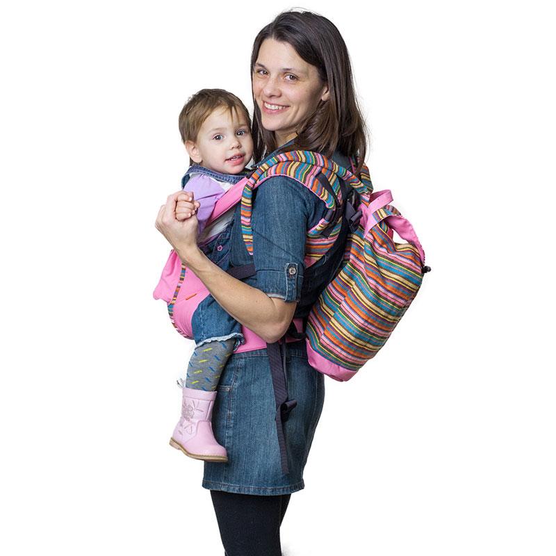 """Сумка-рюкзак для мамы Чудо-Чадо """"Уичоли"""", цвет: розовый"""
