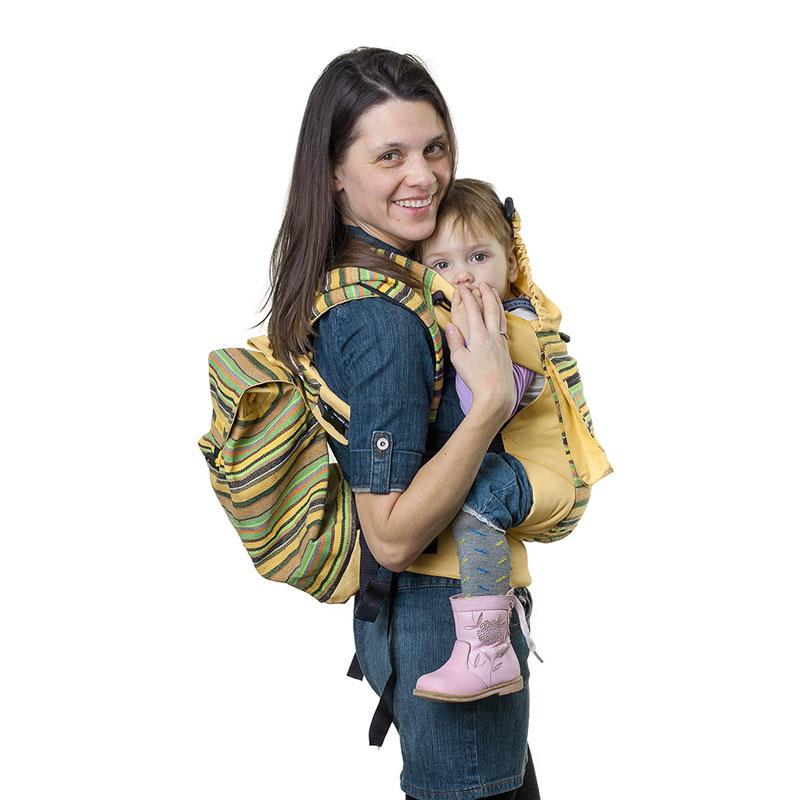 Сумка-рюкзак для мамы Чудо-Чадо Уичоли, цвет: светло-желтый
