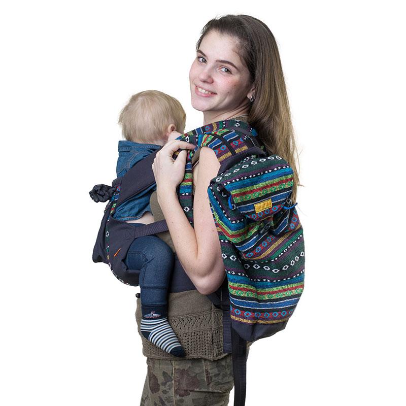 """Сумка-рюкзак для мамы Чудо-Чадо """"Уичоли"""", цвет: темно-синий"""