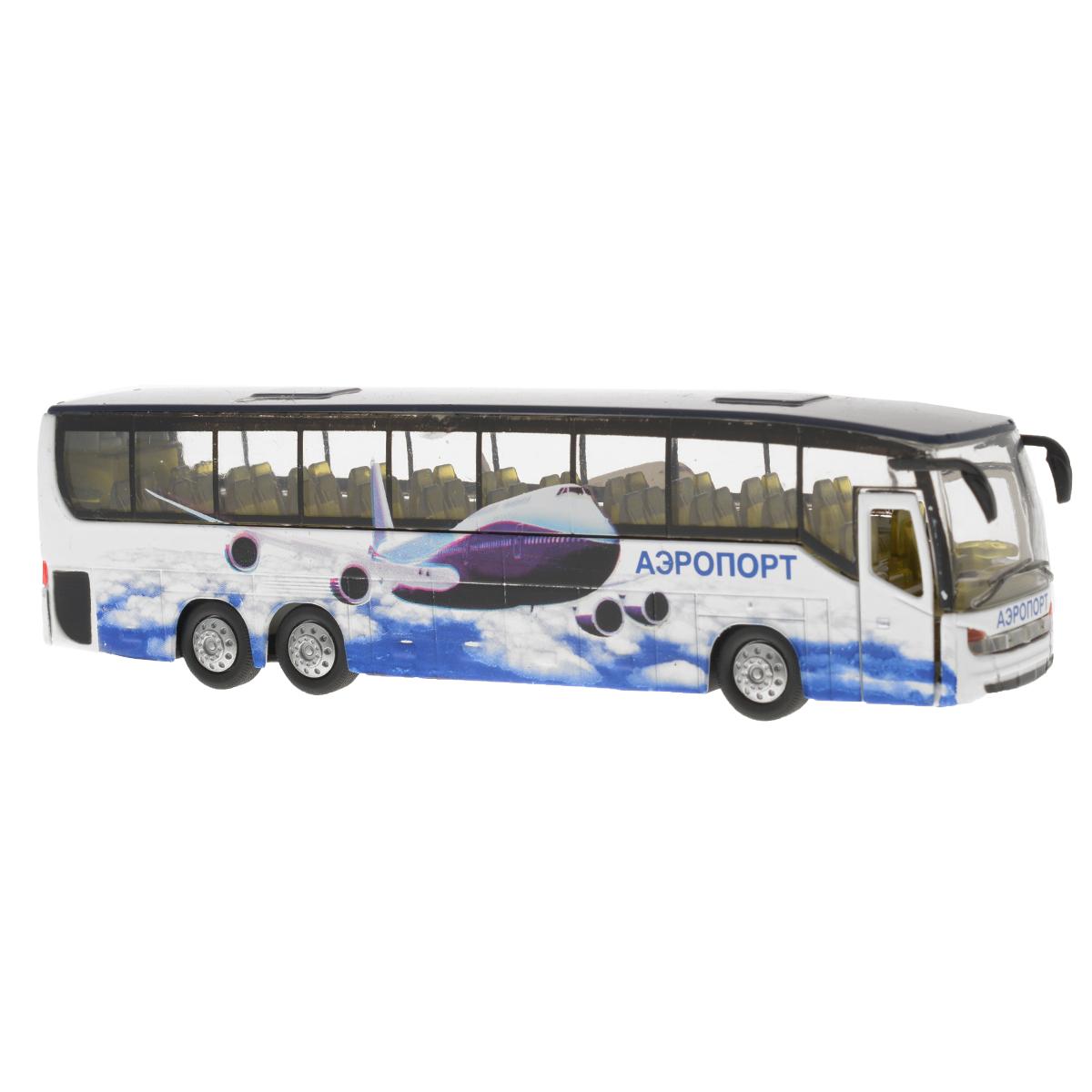 Игрушка инерционная ТехноПарк Автобус. CT10-025(SB) спот ★ импортированные голубой автобус автобус автобус автомобиль тайо игрушка тянуть обратно автомобиль корея продукты