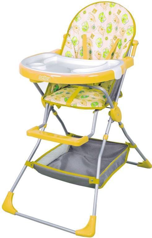 Стульчик для кормления Selby 252 желтый -  Все для детского кормления