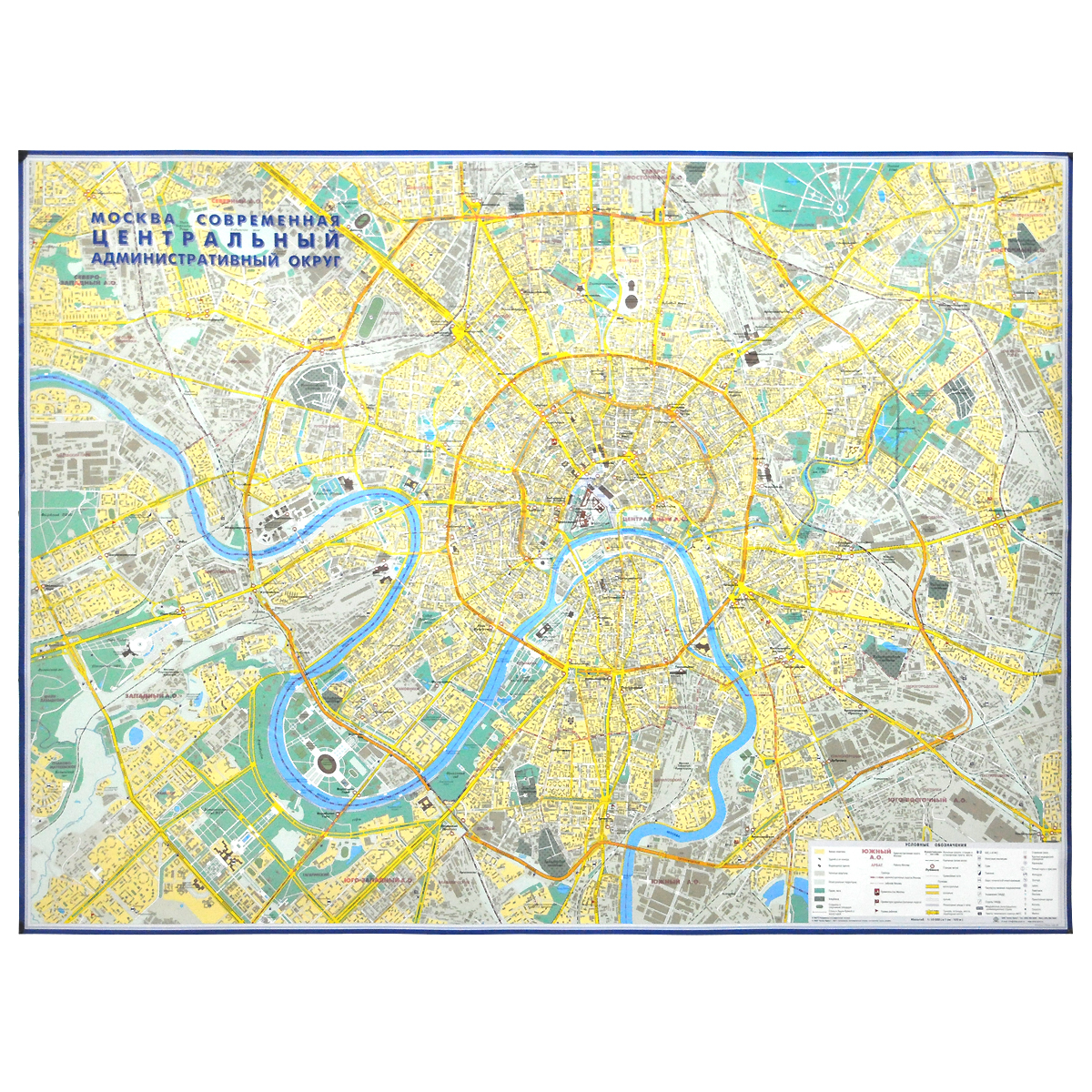 Карта Центрального административного округа Москвы карта центрального административного округа москвы