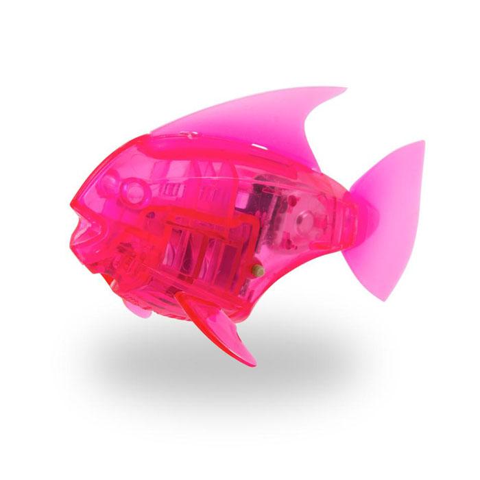 Микро-робот рыбка Hexbug Aquabot Angelfish, со световыми эффектами, цвет: розовый deskpets микро робот скитербот цвет зеленый