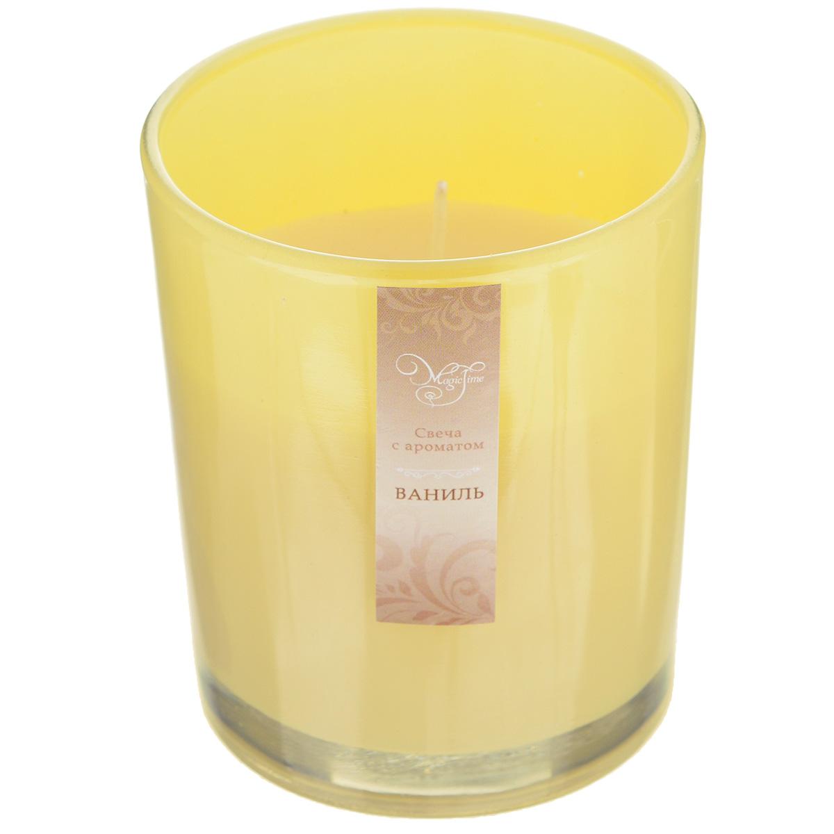 Свеча декоративная Феникс-презент Ваниль, ароматизированная32770Оригинальная ароматизированная свеча Феникс-презент Ваниль, изготовленная из парафина, помещена в стакан из матового стекла. Свеча наполнит вашу комнату приятным ванильным ароматом и создаст в ней уютную атмосферу. Вы можете поставить свечу в любом месте, где она будет удачно смотреться и радовать глаз. Кроме того, эта свеча - отличный вариант подарка для ваших близких и друзей.