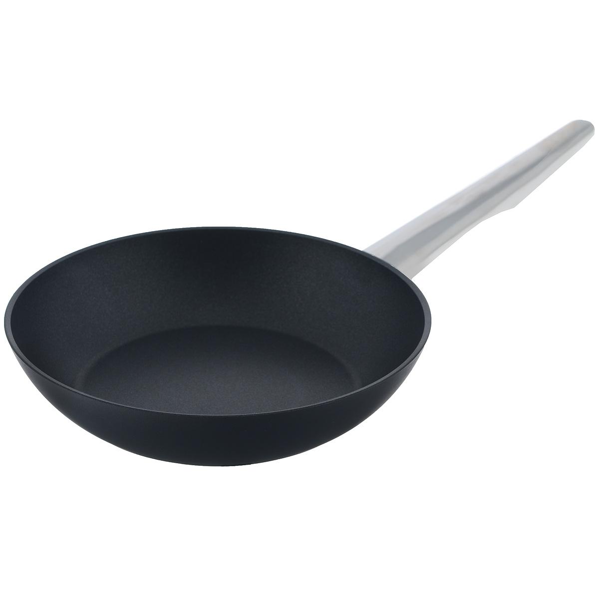 Сковорода TVS Maestrale, с антипригарным покрытием, цвет: черный. Диаметр 20 см сковороды tvs сковорода tvs splendida 24 см